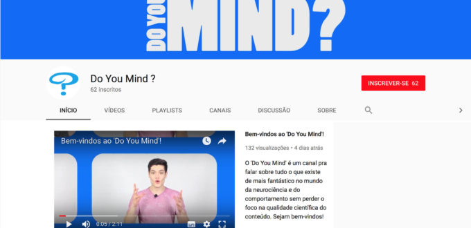 canal do Youtube Do you Mind